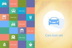 Transports icon set vector illustration