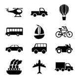 Transports icons Stock Photo