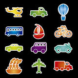 Transports icons Stock Image
