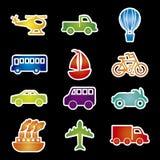 Transports icons Stock Image