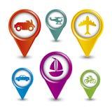 Transports icons Royalty Free Stock Image