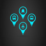 Transports Icons. A set of Transports Icons Royalty Free Stock Photo