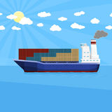 Transports maritimes de mer illustration stock