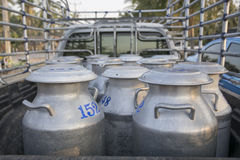 Transports Raw milk in Thailand Stock Photo