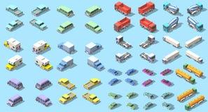 Transports set isometric icon vector graphic illustration design. infographic elements Stock Photo