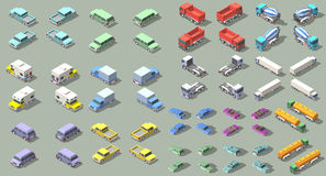 Transports set isometric icon vector graphic illustration design. infographic elements Stock Images