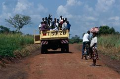 Transports terrestres en Ouganda. Photographie stock libre de droits