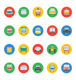 Transports Vector Icons 2 Royalty Free Stock Photo
