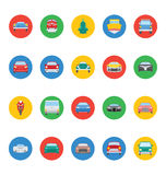 Transports Vector Icons 4. Artists and designers, get ready to transport yourself by rail and road with this great transport  icons pack. It's all that you need Royalty Free Stock Image
