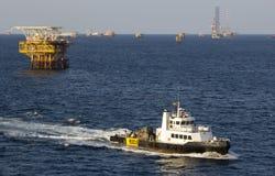 Transportschiff und -anlagen Stockfoto