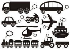 Transportsymboler Arkivfoton