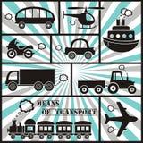 Transportsymboler Royaltyfria Bilder