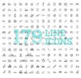 Transportsymboler, tunn linje design vektor illustrationer