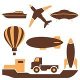Transportsymboler, vektor Arkivfoto