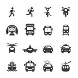 Transportu i pojazdów ikona ustawia 5, wektor eps 10 Fotografia Stock