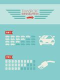 Transportu Infographic element Fotografia Royalty Free