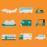 Transportu mieszkania ikony Zdjęcie Stock