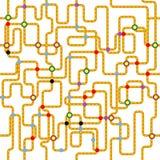 Transportu publicznego bezszwowy wzór, Zdjęcia Stock