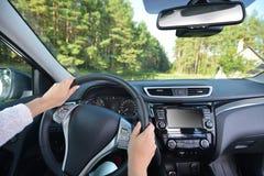 transportu samochodowy wewnętrzny sterowniczy koło obraz royalty free