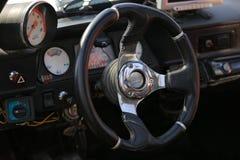 transportu samochodowy wewnętrzny sterowniczy koło Zdjęcie Royalty Free
