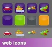 Transportweb-Ikonen Stockfotos