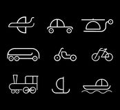 Transpot - set of vector icons Stock Photo