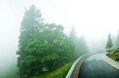 Transrarau road in romania Stock Images