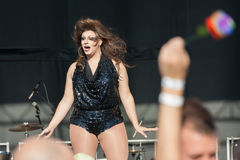 Transsexual Dancing on Stage at Capital Pride Royalty Free Stock Photos