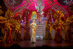 Transsexuals performance at the Tiffany show Royalty Free Stock Photo