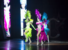 Transsexuals performs dancing at the Alcazar show Stock Image