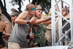 Transsexuals robi selfie Zdjęcia Royalty Free