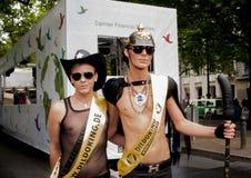 Transsexuels minutieusement habillés, pendant le Christopher Street Day Photos stock