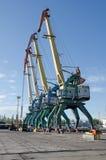 Transshipment port crane Stock Photography