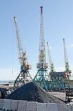 Transshipment port crane Stock Image
