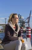 Transshipment port in Gdansk, Poland Royalty Free Stock Photos