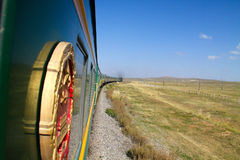Transsiberian (transmongolian) train Stock Photography