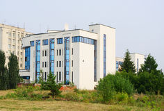 современный офис компании Transsibneft, Омска, России Стоковое фото RF
