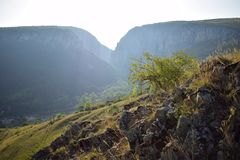 Transsylvanian βουνό, κορυφογραμμή, Turda στοκ φωτογραφία