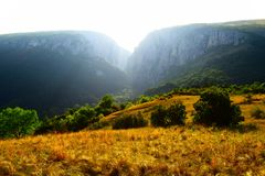 Transsylvanian βουνό, κορυφογραμμή, Turda στοκ εικόνα με δικαίωμα ελεύθερης χρήσης