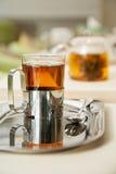 Transtarent glass of tea Royalty Free Stock Photos