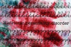 Transtorno de personalidade histriônico Fotos de Stock Royalty Free
