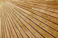 Transversal Wooden Boards Floor Stock Photo