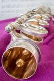 Transversales Flöten-Detail Lizenzfreie Stockfotos