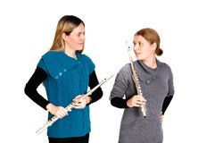 Transverse flute Stock Photography