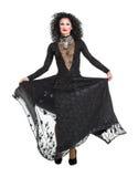 Transvestit i svart utföra för aftonklänning Royaltyfri Foto
