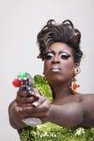 Transvestit med raygun Royaltyfri Bild