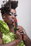 Transvestit med raygun Fotografering för Bildbyråer