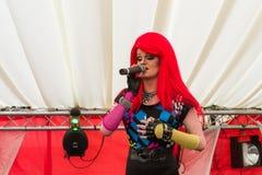 Transvestit på en etapp Arkivfoto