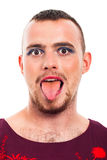 Transvestite funny face Royalty Free Stock Photo