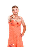 Transvestite pointing Stock Images
